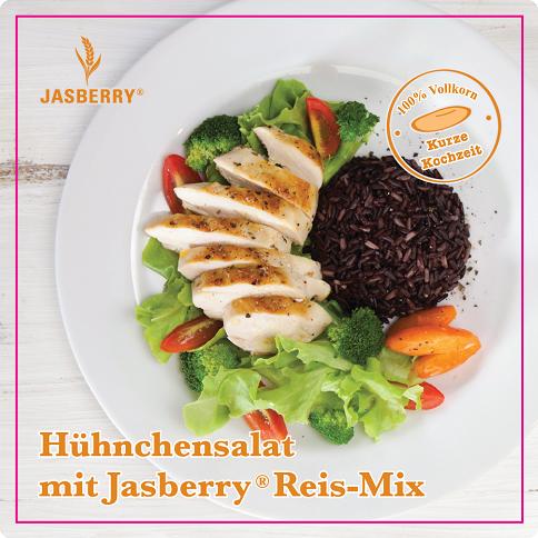 Hühnchensalat mit Jasberry Reis-Mix