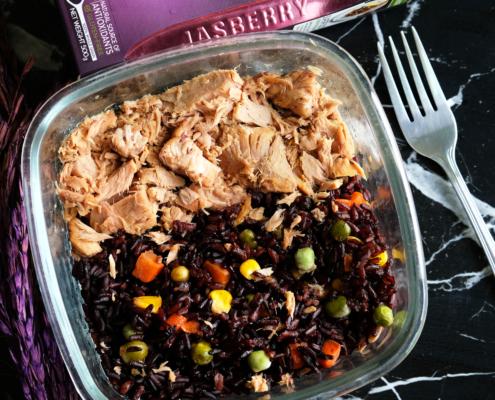Jasberry Reis mit Thunfisch